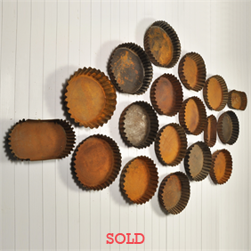Antique Flan Pan Wall Display
