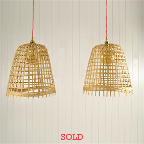 Wicker Cloche Pendants