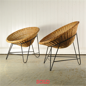 1970's Basket Chairs