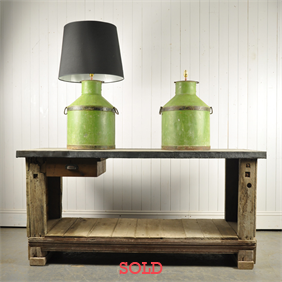 A pair of Italian Oil Canister Lamps