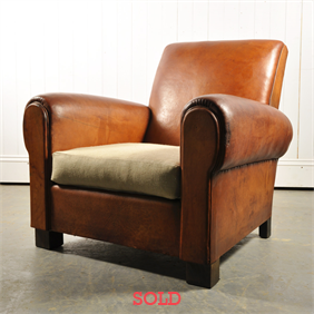 1930's Leather Arm Chair
