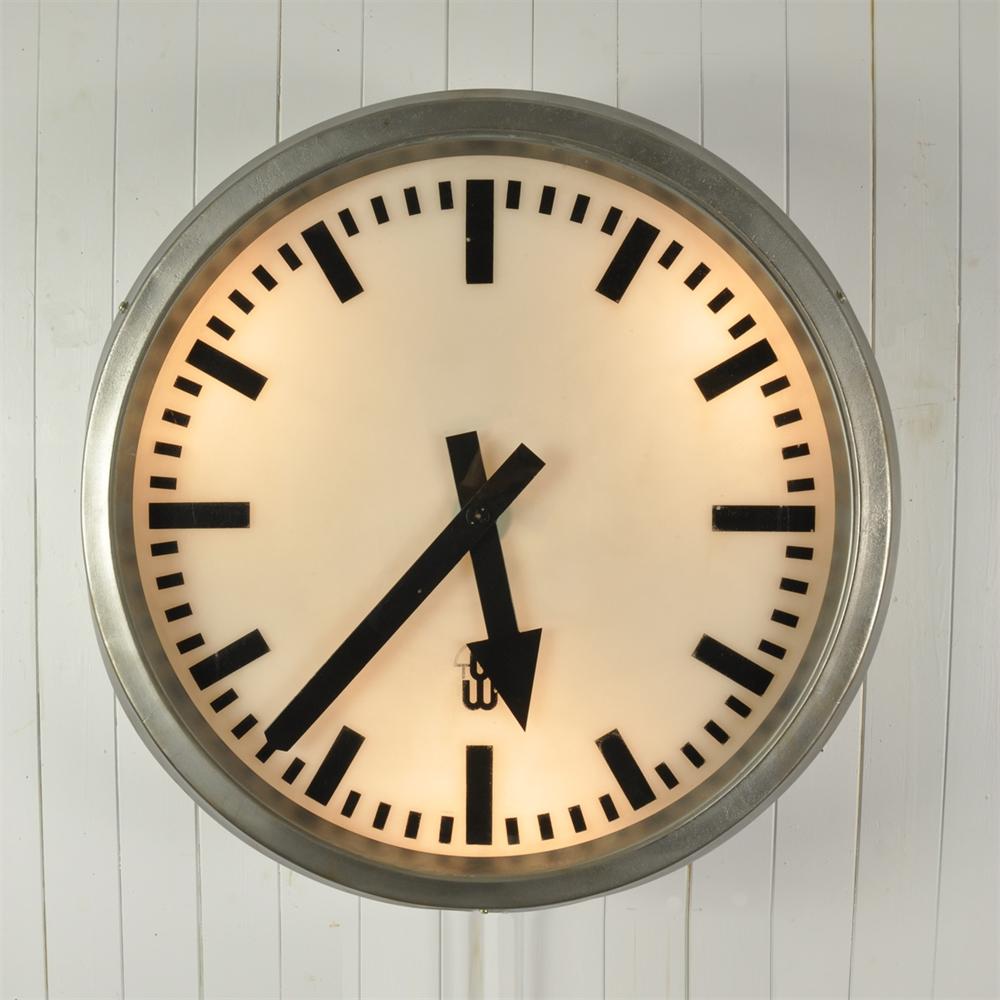 large vintage train station clock