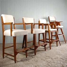 A Group of Restored Ships Pilots Chairs