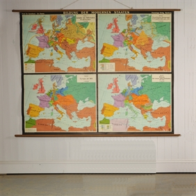 Mid 20th Century Reclaimed Map of Europe