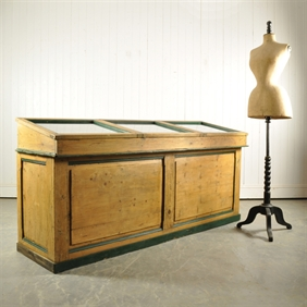 Antique Display Shop Counter