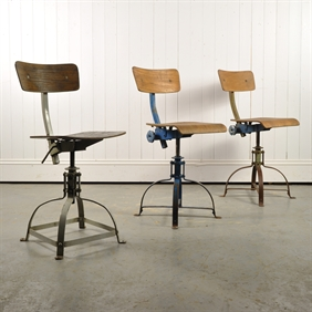 Vintage Bienaise Industrial Chairs
