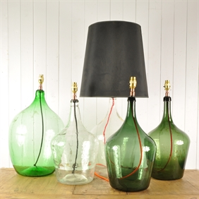 Large Vintage Bottle Lamps