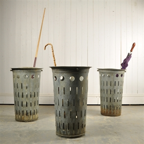 Galvanized Bins / Umbrella Stands