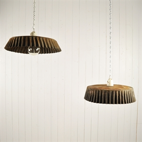 Antique Flan Tin Pendant Lights