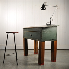 Repurposed Factory Desk