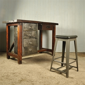 Mid 20th Century Industrial Stool