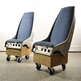 Upcycled Helicopter Seats