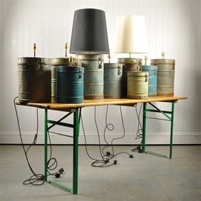 Vintage Tea Canister Lamps