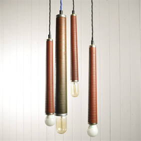 Upcycled Loom Pendant Lights
