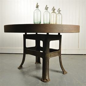 Upcycled Zinc Topped Table