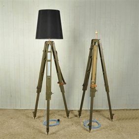 Czech Army Tripod Lamps