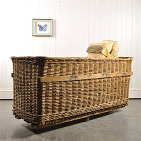 Wicker Textile Mill Cart