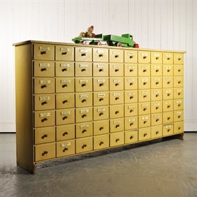 Large Apothecary Bank of Drawers