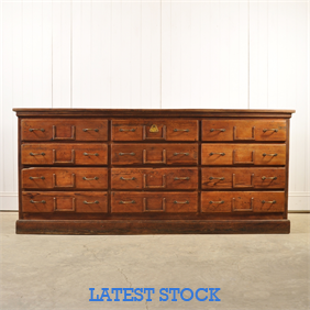 Pitch Pine Bank of Drawers