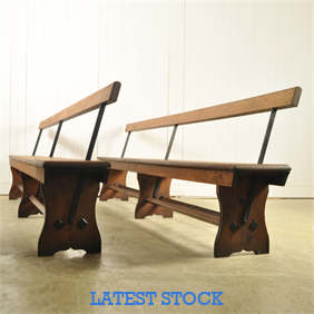 Victorian Church Pew / Tram Benches