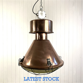 Large Industrial Copper Pendants