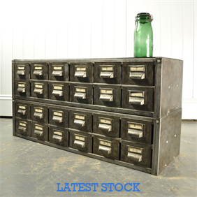 Low Polished Steel Filing Cabinet