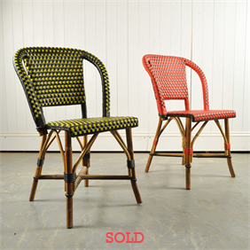 Vintage French Bistro Chairs