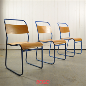 Mid 20 th Century Tubular Stacking Chairs