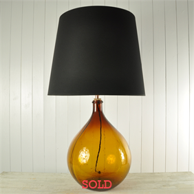 Orange Bottle Lamp