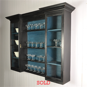 Ebonised Victorian Glazed Cabinet