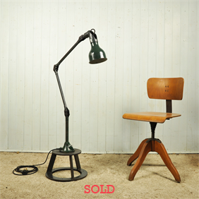 1930's Industrial Floor Lamp