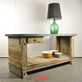 Zinc Topped Workbench