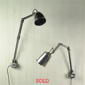 1950's Memlite Factory Lamps