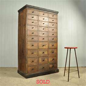 1920's Multi-Drawer Cabinet