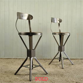 A Pair of Evertaut Factory Chairs