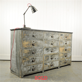 Vintage Industrial Multi Drawer Cupboard