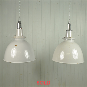 Reclaimed Battleship Grey Factory Lights