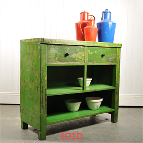 Painted Industrial Side Table