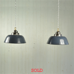 Vintage Enamel Factory Pendant Lights