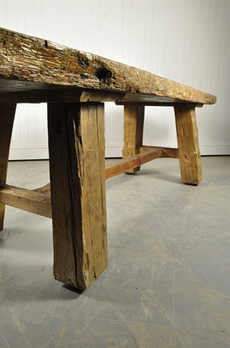 Very Chunky Wooden Table Vintage Furniture Original House