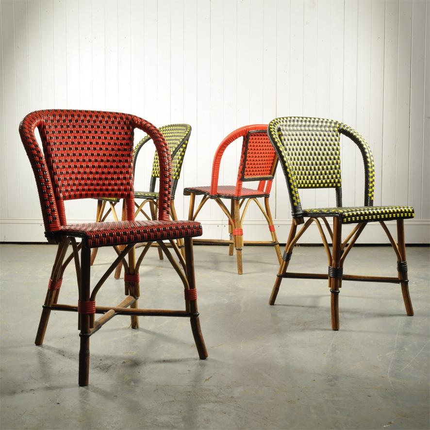 Vintage French Bistro Chairs Retro Furniture Original