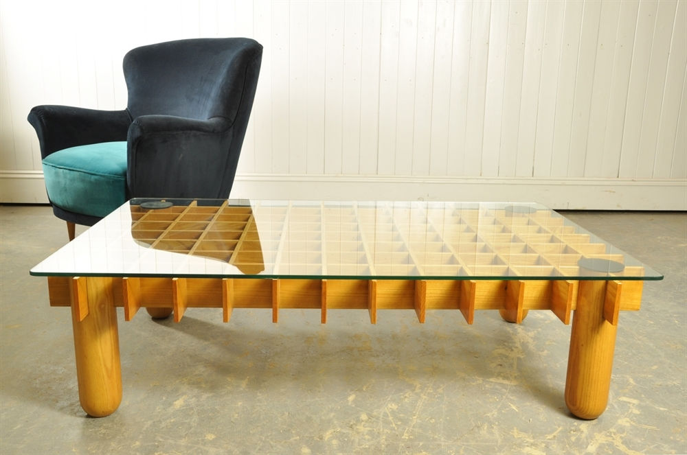 Gianfranco Rattini Coffee Table Original House Vintage Industrial Furniture And Lighting