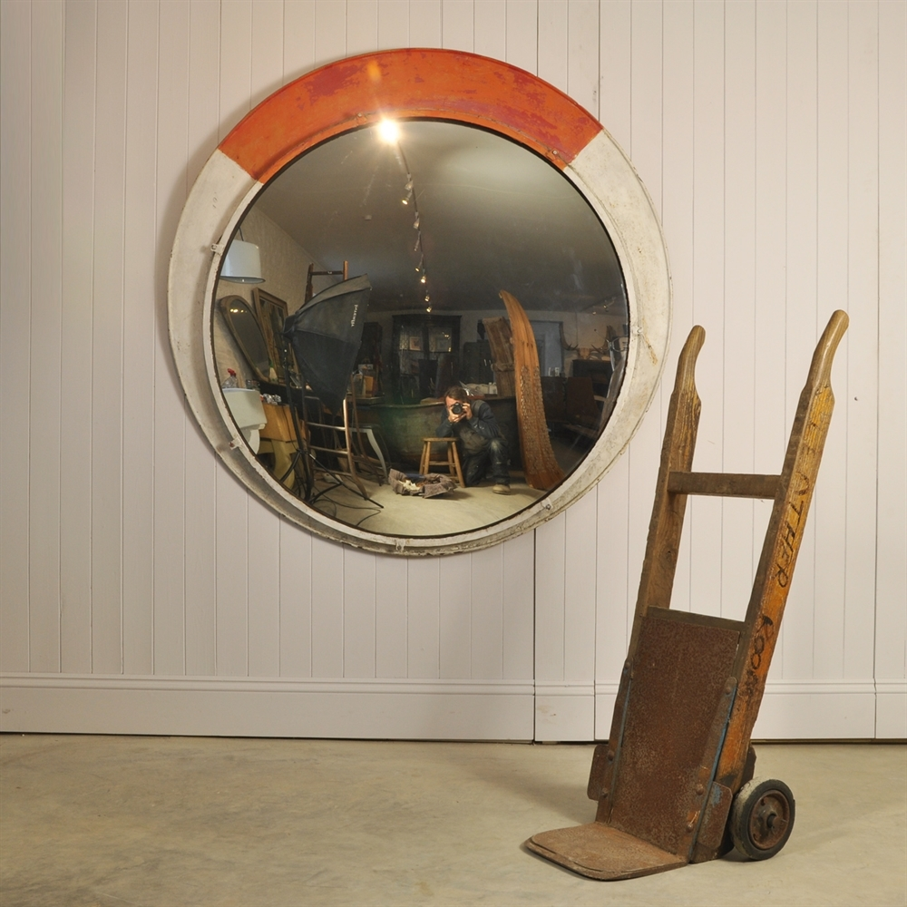 Huge Convex Railway Mirrors  Original House  Vintage Industrial Furniture  And Lighting  Decorative Antiques