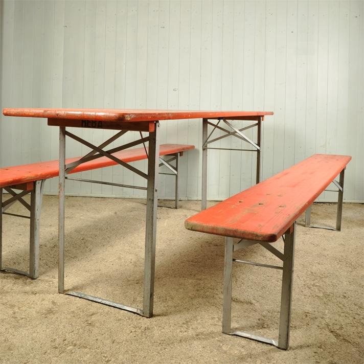 Bench Sets Vintage Garden Furniture, German Beer Garden Table