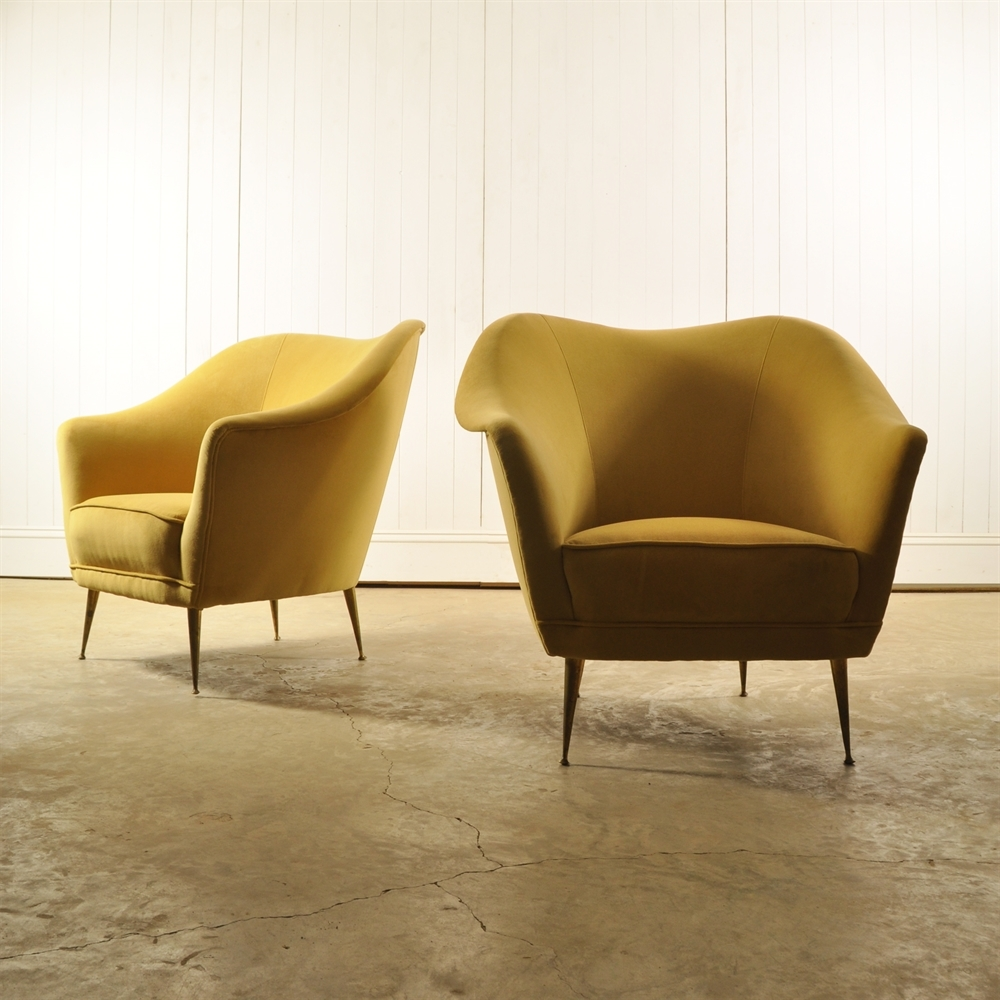 Mid Century Mustard Yellow Armchairs, Original House ...